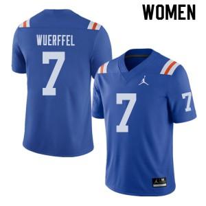 Jordan Brand Women #7 Danny Wuerffel Florida Gators Throwback Alternate College Football Jerseys 713134-394