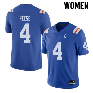 Jordan Brand Women #4 David Reese Florida Gators Throwback Alternate College Football Jerseys Royal 643116-303