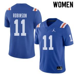 Jordan Brand Women #11 Demarcus Robinson Florida Gators Throwback Alternate College Football Jerseys 692777-550