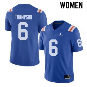 Jordan Brand Women #6 Deonte Thompson Florida Gators Throwback Alternate College Football Jerseys 917198-804