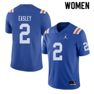 Jordan Brand Women #2 Dominique Easley Florida Gators Throwback Alternate College Football Jerseys 170175-613