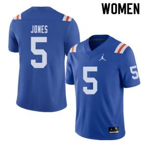 Jordan Brand Women #5 Emory Jones Florida Gators Throwback Alternate College Football Jerseys Royal 941369-377