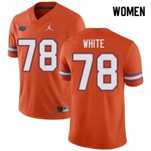Jordan Brand Women #78 Ethan White Florida Gators College Football Jerseys Orange 991057-400