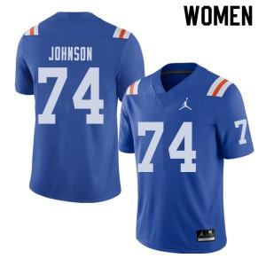 Jordan Brand Women #74 Fred Johnson Florida Gators Throwback Alternate College Football Jerseys 359851-974