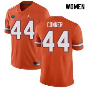 Jordan Brand Women #44 Garrett Conner Florida Gators College Football Jerseys Orange 688629-930