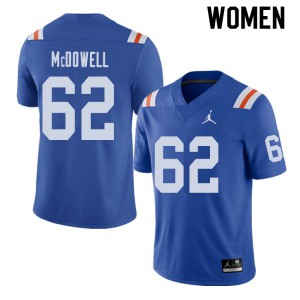 Jordan Brand Women #62 Griffin McDowell Florida Gators Throwback Alternate College Football Jerseys 688730-264