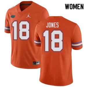 Jordan Brand Women #18 Jalon Jones Florida Gators College Football Jerseys Orange 379802-431