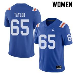 Jordan Brand Women #65 Jawaan Taylor Florida Gators Throwback Alternate College Football Jerseys 540937-467