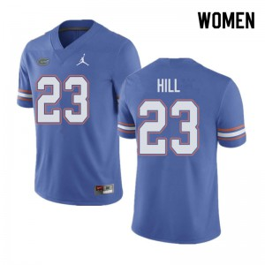 Jordan Brand Women #23 Jaydon Hill Florida Gators College Football Jerseys Blue 658285-421