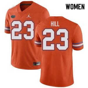 Jordan Brand Women #23 Jaydon Hill Florida Gators College Football Jerseys Orange 833509-522