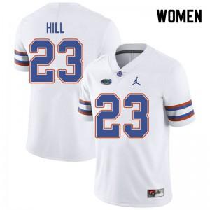 Jordan Brand Women #23 Jaydon Hill Florida Gators College Football Jerseys White 893924-389
