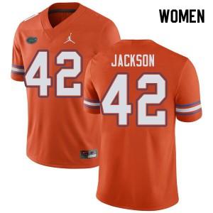 Jordan Brand Women #42 Jaylin Jackson Florida Gators College Football Jerseys Orange 165218-117