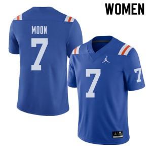 Jordan Brand Women #7 Jeremiah Moon Florida Gators Throwback Alternate College Football Jerseys 287386-460
