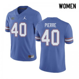 Jordan Brand Women #40 Jesiah Pierre Florida Gators College Football Jerseys Blue 124116-559