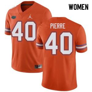 Jordan Brand Women #40 Jesiah Pierre Florida Gators College Football Jerseys Orange 705402-261