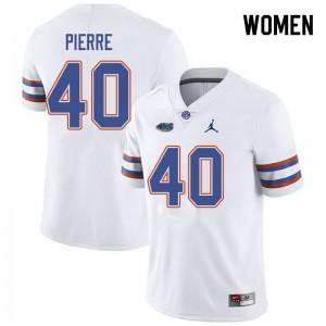 Jordan Brand Women #40 Jesiah Pierre Florida Gators College Football Jerseys White 291016-437