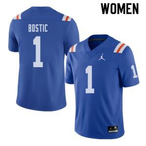 Jordan Brand Women #1 Jonathan Bostic Florida Gators Throwback Alternate College Football Jerseys 446042-739