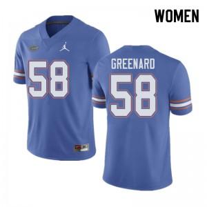 Jordan Brand Women #58 Jonathan Greenard Florida Gators College Football Jerseys Blue 729947-278