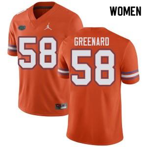 Jordan Brand Women #58 Jonathan Greenard Florida Gators College Football Jerseys Orange 195878-996