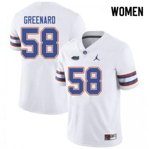 Jordan Brand Women #58 Jonathan Greenard Florida Gators College Football Jerseys White 170359-501