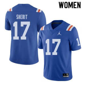 Jordan Brand Women #17 Jordan Sherit Florida Gators Throwback Alternate College Football Jerseys 429259-488