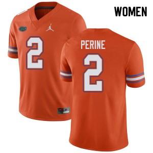 Jordan Brand Women #2 Lamical Perine Florida Gators College Football Jerseys Orange 251251-608