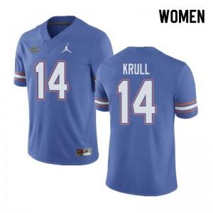 Jordan Brand Women #14 Lucas Krull Florida Gators College Football Jerseys Blue 169997-797