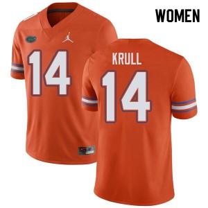 Jordan Brand Women #14 Lucas Krull Florida Gators College Football Jerseys Orange 837660-356