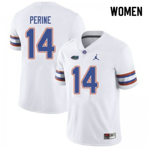 Jordan Brand Women #14 Lucas Krull Florida Gators College Football Jerseys White 128598-379