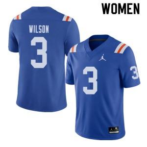Jordan Brand Women #3 Marco Wilson Florida Gators Throwback Alternate College Football Jerseys 588416-961