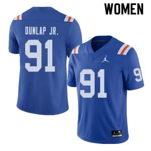 Jordan Brand Women #91 Marlon Dunlap Jr. Florida Gators Throwback Alternate College Football Jerseys 218495-636