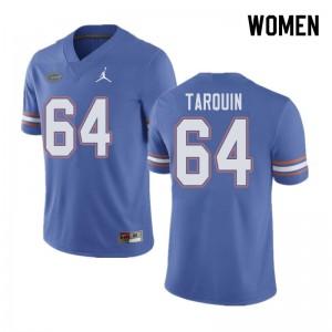 Jordan Brand Women #64 Michael Tarquin Florida Gators College Football Jerseys Blue 196099-483