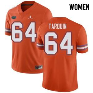 Jordan Brand Women #64 Michael Tarquin Florida Gators College Football Jerseys Orange 829201-650