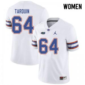 Jordan Brand Women #64 Michael Tarquin Florida Gators College Football Jerseys White 836879-393
