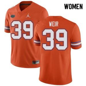 Jordan Brand Women #39 Michael Weir Florida Gators College Football Jerseys Orange 409152-952