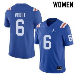 Jordan Brand Women #6 Nay'Quan Wright Florida Gators Throwback Alternate College Football Jerseys 682346-747