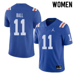Jordan Brand Women #11 Neiron Ball Florida Gators Throwback Alternate College Football Jerseys 597489-768
