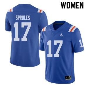 Jordan Brand Women #17 Nick Sproles Florida Gators Throwback Alternate College Football Jerseys 647217-632