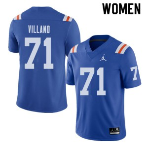 Jordan Brand Women #71 Nick Villano Florida Gators Throwback Alternate College Football Jerseys 744434-941