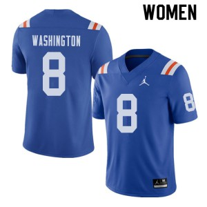 Jordan Brand Women #8 Nick Washington Florida Gators Throwback Alternate College Football Jerseys 204338-763