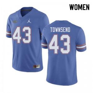 Jordan Brand Women #43 Tommy Townsend Florida Gators College Football Jerseys Blue 173846-462