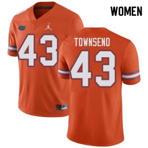 Jordan Brand Women #43 Tommy Townsend Florida Gators College Football Jerseys Orange 524847-704
