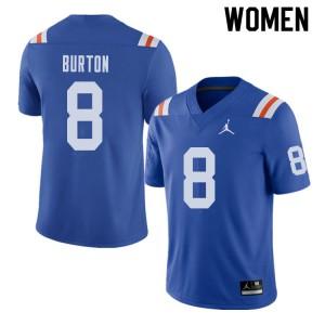 Jordan Brand Women #8 Trey Burton Florida Gators Throwback Alternate College Football Jerseys Royal 713490-592
