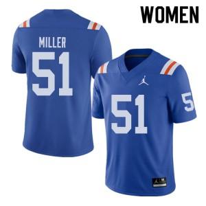 Jordan Brand Women #51 Ventrell Miller Florida Gators Throwback Alternate College Football Jerseys 160070-208