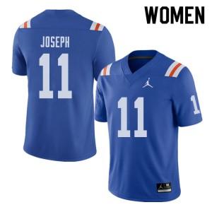 Jordan Brand Women #11 Vosean Joseph Florida Gators Throwback Alternate College Football Jerseys 983233-622