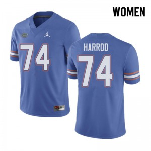 Jordan Brand Women #74 Will Harrod Florida Gators College Football Jerseys Blue 343261-870