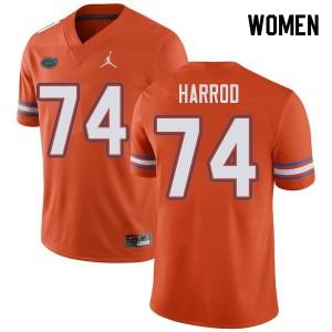Jordan Brand Women #74 Will Harrod Florida Gators College Football Jerseys Orange 254234-718