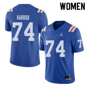 Jordan Brand Women #74 Will Harrod Florida Gators Throwback Alternate College Football Jerseys 326867-354
