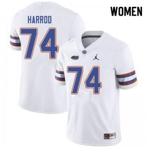 Jordan Brand Women #74 Will Harrod Florida Gators College Football Jerseys White 865851-460