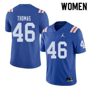 Jordan Brand Women #46 Will Thomas Florida Gators Throwback Alternate College Football Jerseys 696142-964